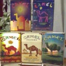Paquetes de tabaco: 8 CAJETILLAS VACIAS CAMEL TORNASOLADAS COLECCION COMPLETA ENVIO GRATIS A TODO EL MUNDO. Lote 49656302