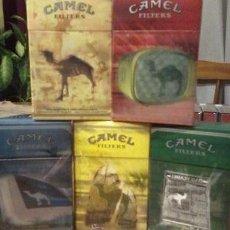 Paquetes de tabaco: 5 CAJETILLAS VACIAS CAMEL DE ARGENTINA ENVIO GRATIS. Lote 49656547