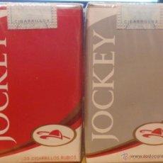 Paquetes de tabaco: 2 ANTIGUOS PAQUETES DE CIGARRILLOS JOCKEY CLUB DE ARGENTINA. Lote 49743776