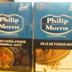 Paquetes de tabaco: 2 CAJETILLAS LLENAS DE CIGARRILLOS PHILLIP MORRIS DE ARGENTINA. Lote 49743810