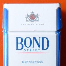 Paquetes de tabaco: BOND STREET - BLUE SELECTION - AMERICAN BLEND - ALFAFETO CIRILICO Y FOTO - PAQUETE DE TABACO VACÍO. Lote 50058891