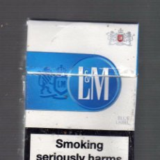 Paquetes de tabaco: CAJETILLA VACÍA DE L & M BLUE LABEL (ADVERTENCIAS SANITARIAS EN INGLÉS). Lote 50513912