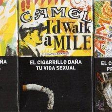 Paquetes de tabaco: 3 CAJETIILAS CAMEL EDICION LIMITADA 100 AÑOS DE ARGENTINA . Lote 50599794
