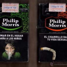 Paquetes de tabaco: 2 CAJETILLAS DE PHILLIP MORRIS KRETEK EDICION LIMITADA DE ARGENTINA. Lote 50610602
