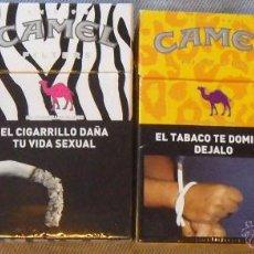 Paquetes de tabaco: 4 CAJETILLAS CAMEL BOX VACIAS DE ARGENTINA EDICION LIMITADA SERIE COLORESS LIMITADA. Lote 50610721