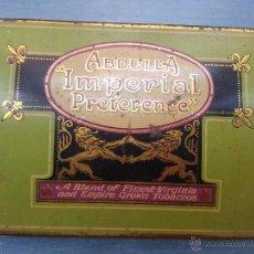Paquetes de tabaco: ANTIGUA CAJA METALICA TABACO - PARTE TRASERA CURBA - MARCA ABDULLA IMPERIAL PREFERENCE . Lote 51088507