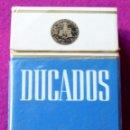 Paquetes de tabaco: DUCADOS - NEGRO - DURO - PAQUETE DE TABACO VACÍO - PRINCIPIOS AÑOS 90. Lote 161088212