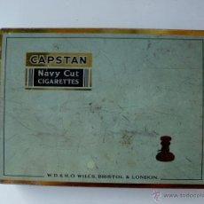 Paquetes de tabaco: CAPSTAN NAVY CUT - CAJA VINTAGE 50 CIGARILLOS (VACIA). Lote 51614485