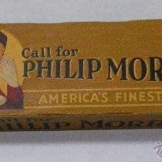 Paquetes de tabaco: TABACO. CIGARROS. ANTIGUO CARTON DE PHILIP MORRIS DONDE ENTRABAN 10 PAQUETES DE CIGARRILLOS. Lote 157970208