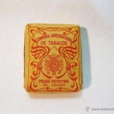 Paquetes de tabaco: PAQUETE DE TABACO DE PICADO ENTREFINO. COMPAÑIA ARRENDATARIA DE TABACOS. 25 GRAMOS. Lote 52567466
