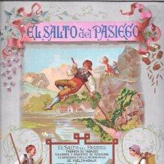 Paquetes de tabaco: ENVOLTORIO DE CUARTERÓN DE TABACO SIGLO XIX. EL SALTO DEL PASIEGO VUELTA - ABAJO. HABANA.. Lote 52963161