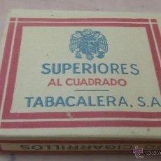 Paquetes de tabaco: PAQUETE DE TABACO SUPERIORES AL CUADRADO - TABACALERA S.A - PAQUETE SIN ABRIR. Lote 52963281