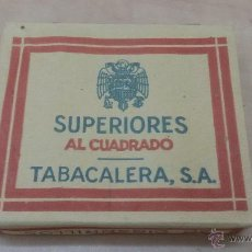 Paquetes de tabaco: PAQUETE DE TABACO SUPERIORES AL CUADRADO - TABACALERA S.A - PAQUETE SIN ABRIR. Lote 52963549