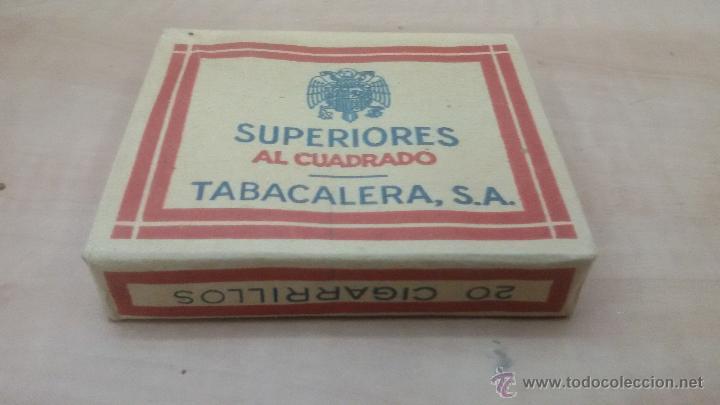 Paquetes de tabaco: PAQUETE DE TABACO SUPERIORES AL CUADRADO - TABACALERA S.A - PAQUETE SIN ABRIR - Foto 3 - 52963549