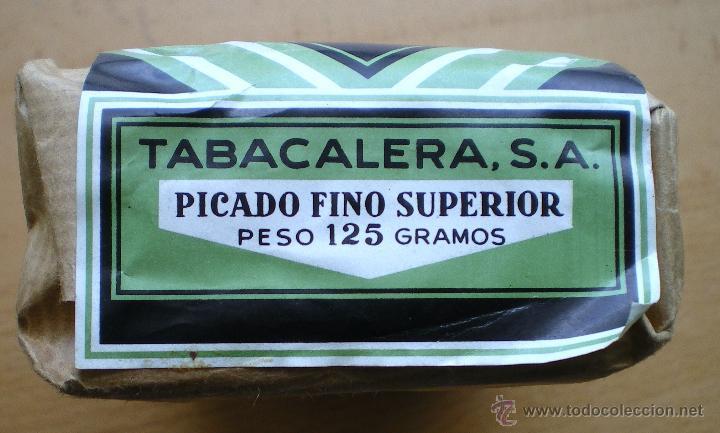 PAQUETE DE TABACO TABACALERA PICADO FINO SUPERIOR 125 GR CERRADO (Coleccionismo - Objetos para Fumar - Paquetes de tabaco)