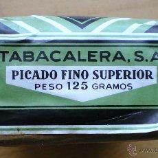 Paquetes de tabaco: PAQUETE DE TABACO TABACALERA PICADO FINO SUPERIOR 125 GR CERRADO. Lote 53347302