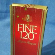 Paquetes de tabaco: FINE 120 SUPER LENGHT - PAQUETE TABACO - AÑOS 70-80 - VACÍO. Lote 53442144