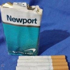 Paquetes de tabaco: NEWPORT MENTHOL - 7 CIGARRILLOS - PAQUETE TABACO - AÑOS 70-80 - RARO. Lote 53442199