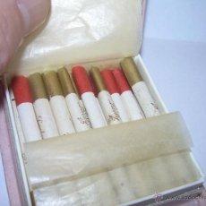 Paquetes de tabaco: ANTIGUA CAJA DE CIGARRILOS DE MUJER...MUY PEQUEÑOS....VER FOTOS- LADY GENEVE. Lote 53462244