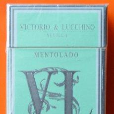 Maços de tabaco: VICTORIO & LUCCHINO - SEVILLA - MENTOLADO - PAQUETE DE TABACO SIN ABRIR - LLENO - AÑOS 90. Lote 53690128