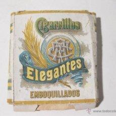 Paquetes de tabaco: PAQUETE DE TABACO DE 14 CIGARRILLOS ELEGANTES. 0,80 PESETAS. COMPAÑIA ARRENDATARIA DE TABACOS. Lote 53968733