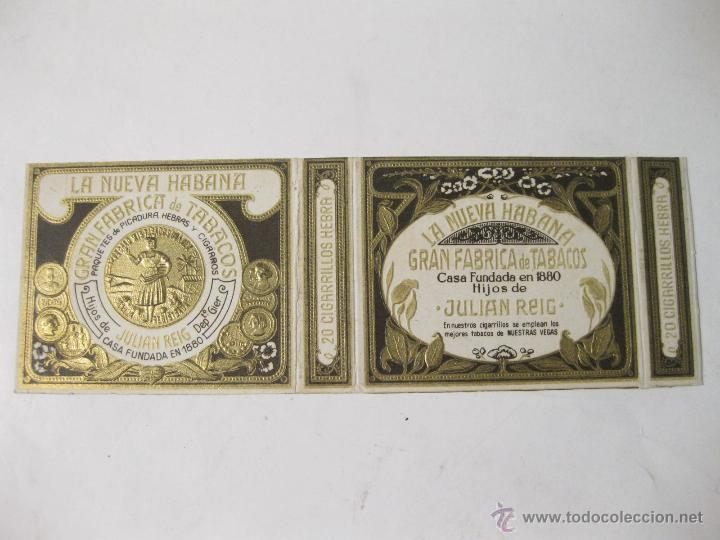 CAJA DE CIGARRILLOS LA NUEVA HABANA. FABRICA DE TABACOS. HIJOS DE JULIAN REY (Coleccionismo - Objetos para Fumar - Paquetes de tabaco)