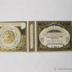 Paquetes de tabaco: CAJA DE CIGARRILLOS LA NUEVA HABANA. FABRICA DE TABACOS. HIJOS DE JULIAN REY. Lote 54045775
