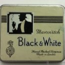 Paquetes de tabaco: MARCOVITCH. BLACK & WITHE. HAND PACKED VIRGINIA. MADE IN LONDON. CAJA DE LATA. . Lote 54114012
