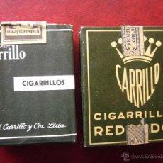 Paquetes de tabaco: CARRILLO .LOTE DE 2 PAQUETES DE TABACO. Lote 54425930