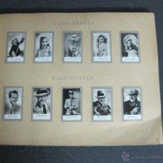 Paquetes de tabaco: ALBUM ARTISTAS DE CINE -CROMOS DE CIGARRILLOS - VER FOTOS-COMPLETO- GARY COOPER-MARLENNE -(V-4471). Lote 54494622