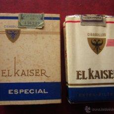 Paquetes de tabaco: EL KAISER . LOTE DE 2 PAQUETES DE TABACO. Lote 54543199