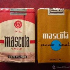 Paquetes de tabaco: MASCOTA . LOTE DE 2 PAQUETES DE TABACO. Lote 54543286