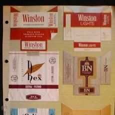 Paquetes de tabaco: ANTIGUOS DOCE PAQUETES CIGARRILLOS HOJA ALBUM CELTAS REX. Lote 54721056