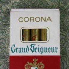 Paquetes de tabaco: CAJA DE 5 PUROS CORONA GRAND SEIGNEUR. CADA UNO EN TUBO Y ENVUELTO. SUIZA. XX.. Lote 54488723