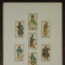 Paquetes de tabaco: B2-100. COLECCIÓN DE 7 CARTAS - PUBLICIDAD CIGARROS JOHN PLAYER - CIRCA 1920. Lote 49334933