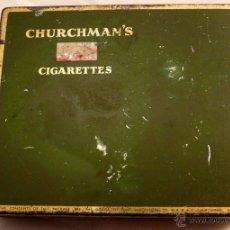 Paquetes de tabaco: CAJA METALICA DE TABACO CHURCHMAN`S. Lote 54955451