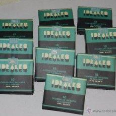 Paquetes de tabaco: (M) CIGARRILLOS SELECTOS IDEALES , LOTE DE 10 PAQUETES DE TABACO EN IMPECABLE ESTADO DE CONSERVACION. Lote 54978579