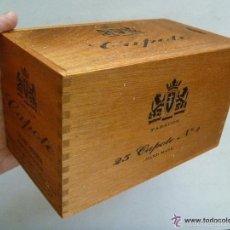 Paquetes de tabaco: CAJA DE PUROS CAPOTE DE LAS CANARIAS . DE MADERA . 9 X 9 X 16 CM. Lote 58493229