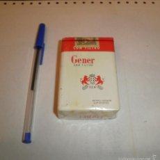 Paquetes de tabaco: TABACO. PAQUETE GENER EXTRALARGOS. PRECINTADO, AÑOS 60. Lote 55225362