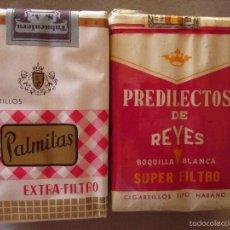 Paquetes de tabaco: PREDILECTOS DE REYES Y PALMITAS . LOTE DE 2 PAQUETES. Lote 55399269
