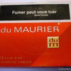 Paquetes de tabaco: CAJETILLA DU MAURIER CANADIENSE. Lote 55402906