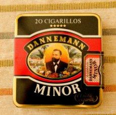 Paquetes de tabaco: CAJA DE TABACO DE METAL DANNEMANN MINOR 20 CIGARRILLOS PRECINTADA. Lote 55569987