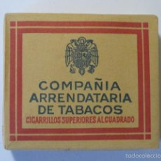 Paquetes de tabaco: PAQUETE TABACO COMPAÑIA ARRENDATARIA DE TABACOS 20 CIGARRILLOS. Lote 61859310