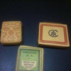 Paquetes de tabaco: * ANTIGUOS PAQUETES DE TABACO:TABACALERA SA,COMPAÑIA ARRENDATARIA DE TABACOS,. (RF:222/E). Lote 56599702