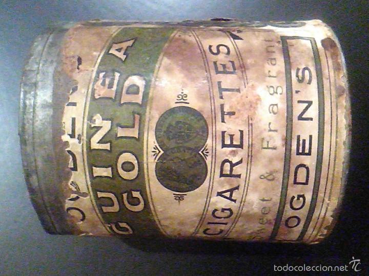 Paquetes de tabaco: lata tabaco OGDEN´S GUINEA GOLD CIGARETTES Fábrica de Tabacos años 20. TOBACCO CO CANADA LIMITED - Foto 3 - 56703171