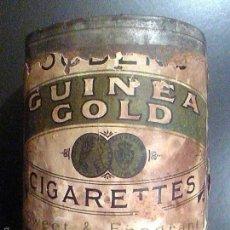Paquetes de tabaco: LATA TABACO OGDEN´S GUINEA GOLD CIGARETTES FÁBRICA DE TABACOS AÑOS 20. TOBACCO CO CANADA LIMITED. Lote 56703171