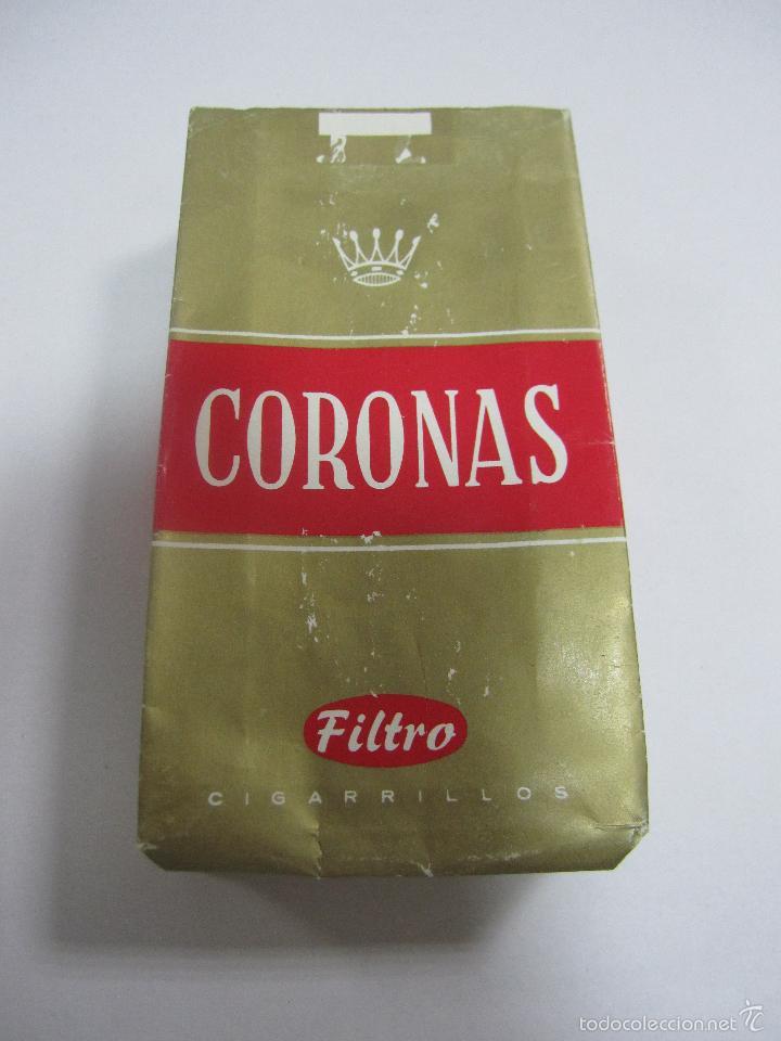 PAQUETE DE TABACO. VACIO. CORONAS. FILTRO (Coleccionismo - Objetos para Fumar - Paquetes de tabaco)