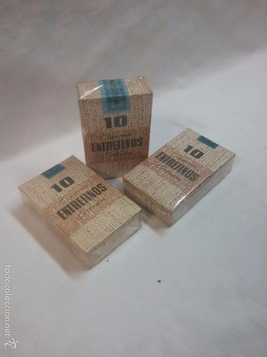 LOTE DE TRES CAJA CAJAS SIN ABRIR 10 ENTREFINOS , CIGARROS CORTADOS - ELABORACIÓN ESPAÑOLA (Coleccionismo - Objetos para Fumar - Paquetes de tabaco)