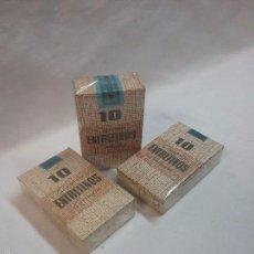 Paquetes de tabaco: LOTE DE TRES CAJA CAJAS SIN ABRIR 10 ENTREFINOS , CIGARROS CORTADOS - ELABORACIÓN ESPAÑOLA . Lote 57536310