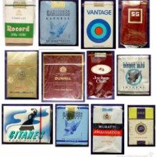 Paquetes de tabaco: LOTE PAQUETE TABACO. JOCKEY- RECORD-BENSON- MURATTI-555-VANTAGE-DUNHILL-SG-GAULOISES-GITANES-AÑOS 60. Lote 51932748